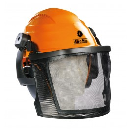Protective Helmet with Mesh and Earmuffs